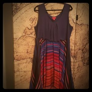 Multicolored Sleeveless Dress